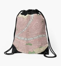 Vintage Map of Pittsburgh Pennsylvania (1912) Drawstring Bag