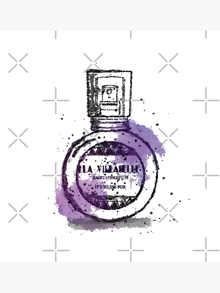 La Villanelle Perfume Watercolour Print by leeseylee