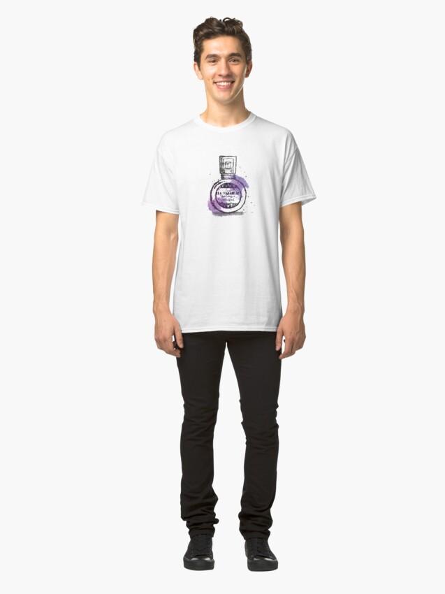 Alternate view of La Villanelle Perfume Watercolour Print Classic T-Shirt