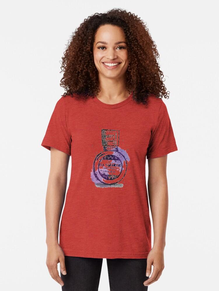Alternate view of La Villanelle Perfume Watercolour Print Tri-blend T-Shirt