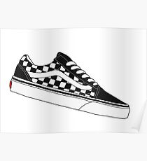 Vans Old Skool Low - Checkerboard Poster