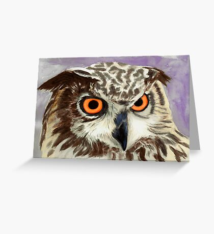 African Owl (eagle owl) Greeting Card