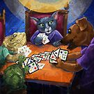 Pets playing MATCH 4 by TraciVanWagoner