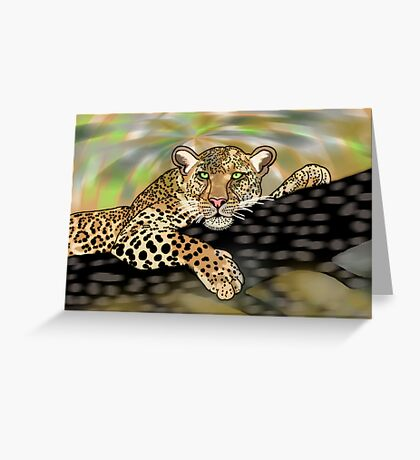 Pop art leopard 1 (all styles animals series) Greeting Card
