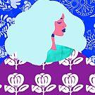 Blue Wallpaper Girl by TabithaBianca