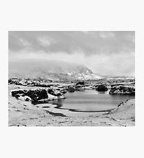 Snowfall at Lake Myvatn Photographic Print