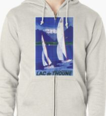 Vintage Sailboats Poster Zipped Hoodie