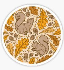 Oak & Squirrels | Autumn Yellows Palette Sticker