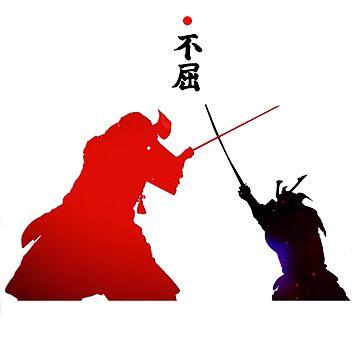 Samurai Duel by vivalarevolucio