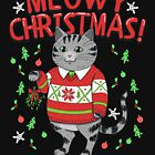 Christmas Cat | Merry Meowy by Kittyworks