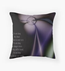 Her Vision w/poem Throw Pillow