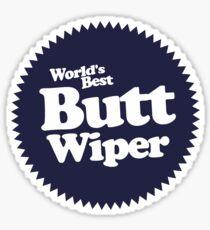 Worlds Best Butt Wiper Sticker