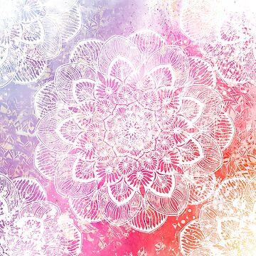 Sumer Time Watercolor Mandala by cadinera