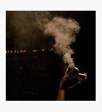 Smoke and hand Photographic Print