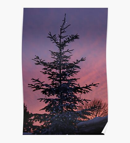 A sky at dusk Poster
