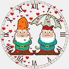 Happy and Grumpy Gnomes Roman Numbers by ironydesigns