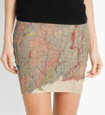 Vintage Connecticut Geology Map (1906) Mini Skirt
