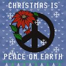 Ugly Christmas Sweater Peace On Earth by HolidayT-Shirts