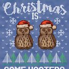 Ugly Christmas Sweater Hooters by HolidayT-Shirts