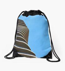 Accordion House Drawstring Bag
