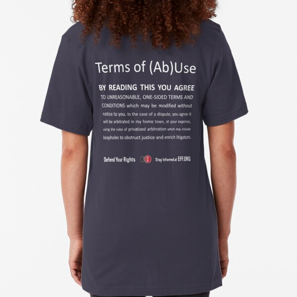 Terms of (Ab)Use - white Slim Fit T-Shirt
