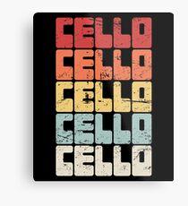 Vintage Cello Teacher Gift / Cello Lessons Metal Print