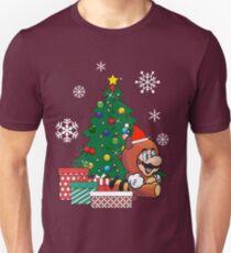 Mario Tanooki Around The Christmas Tree Unisex T-Shirt