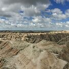 Panoramic view of Badlands National Park, USA by Adam Nixon