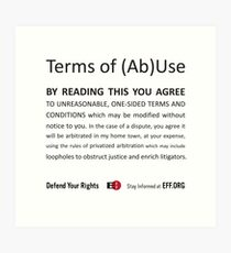 Terms of (Ab)Use Art Print