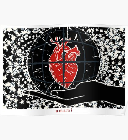 Kami Holding Heart Poster