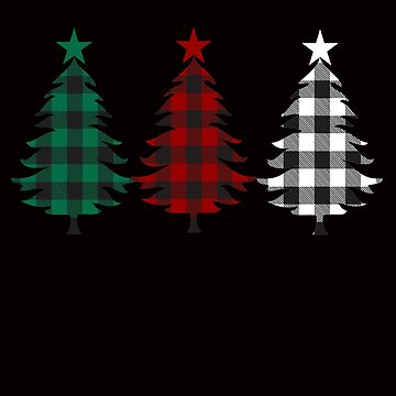 Christmas Buffalo Plaid Trees  by Tetete