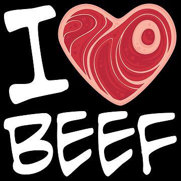 Amo la carne de res - Versión texto blanco de fizzgig