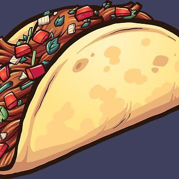 Cartoon taco by memoangeles