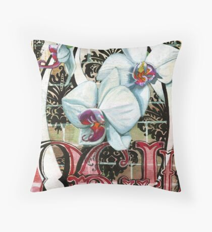 O is for Orchid 2 Throw Pillow