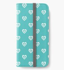 Mint Hearts iPhone Wallet/Case/Skin