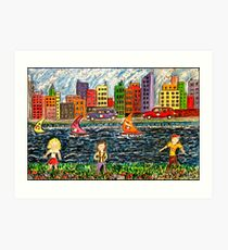 The River Race Art Print