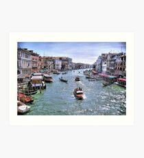 Rush Hour In Venice! Art Print