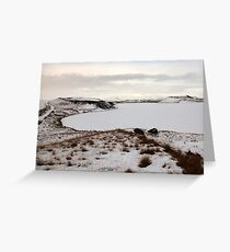 Pseudo Craters Greeting Card