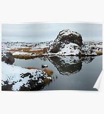 Lake Myvatn Reflection 1 Poster