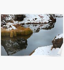 Lake Myvatn Reflection 3 Poster