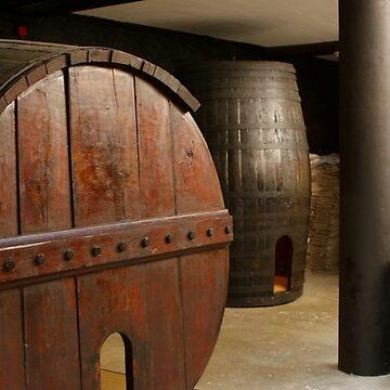 Old wine barrels by FranWest