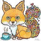 Coffee Fox by Lynda Bell