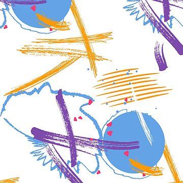 Orange blue splash by Milatoo