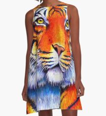 Colorful Bengal Tiger A-Line Dress