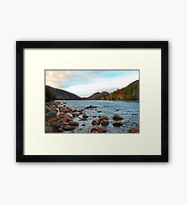 'Jordan Pond and the Bubbles' Framed Print