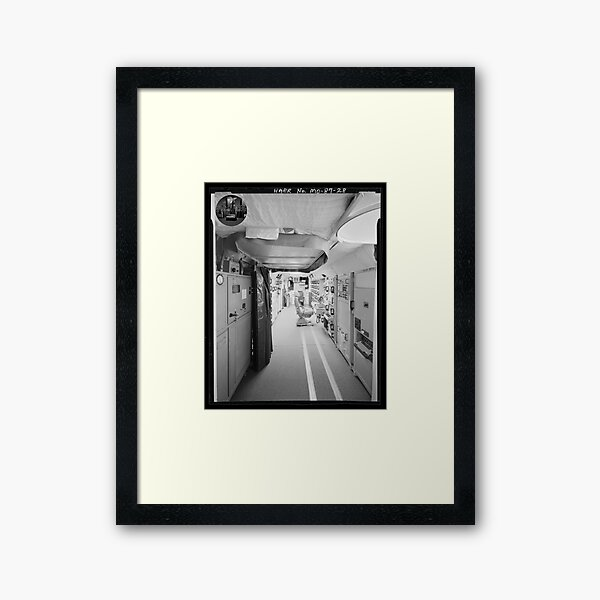 Top Secret US Nuclear Missile Silo, retro americana Framed Art Print