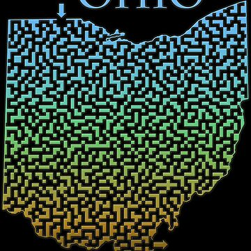 Ohio State Outline Maze & Labyrinth by gorff
