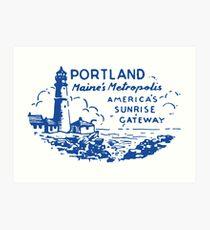1940 Portland, Maine's Metropolis Art Print