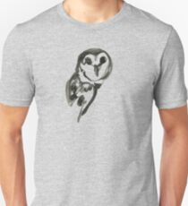 Snowy owl brush and ink Unisex T-Shirt