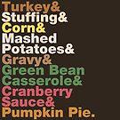 Thanksgiving Helvetica Turkey Dinner Helvetica Name List  by fishbiscuit